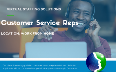 Job Opportunity: Customer Service Reps